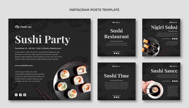 Handgetekende instagrampost voor eten