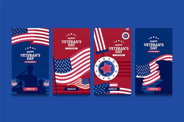 Handgetekende instagramverhalen van veteranendag