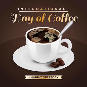 Handgetekende internationale koffiedag