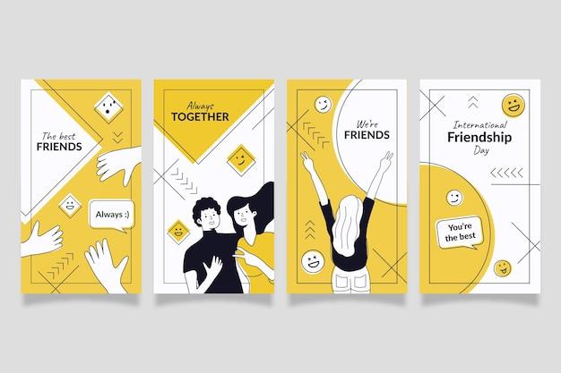 Handgetekende internationale vriendschapsdag instagram verhalencollectie