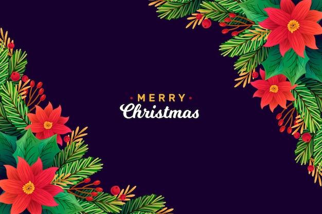 Handgetekende kerst achtergrondontwerp