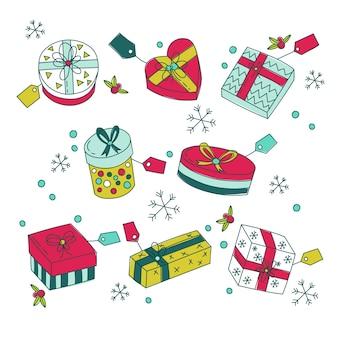 Handgetekende kerstcadeaus collectie