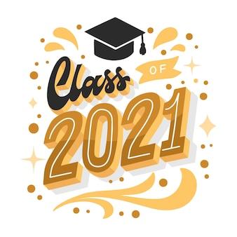Handgetekende klasse van 2021-letters