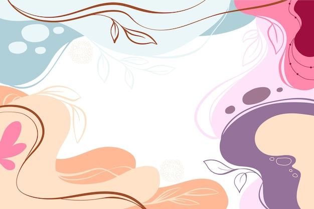 Handgetekende kleurrijke dynamische achtergrond