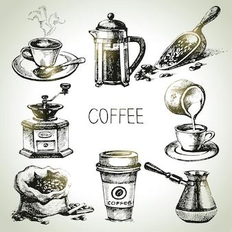 Handgetekende koffieset