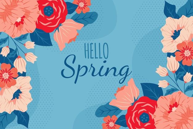Handgetekende lente achtergrond
