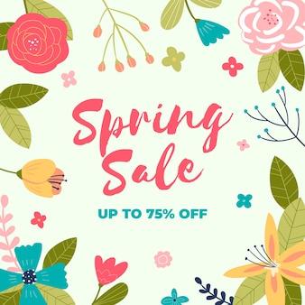 Handgetekende lente verkoop thema
