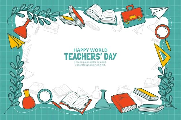 Handgetekende lerarendag achtergrond