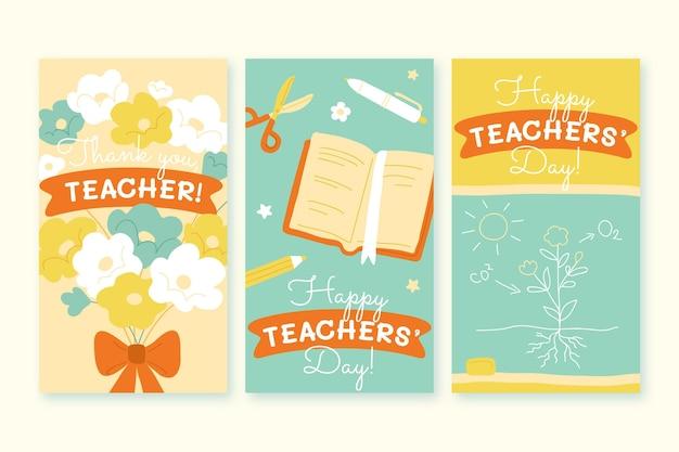 Handgetekende lerarendag instagram verhalencollectie