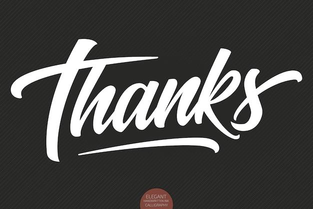 Handgetekende letters bedankt.