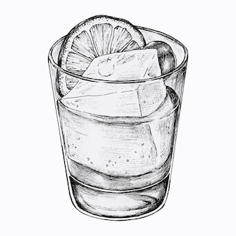 Handgetekende limonade met ijs