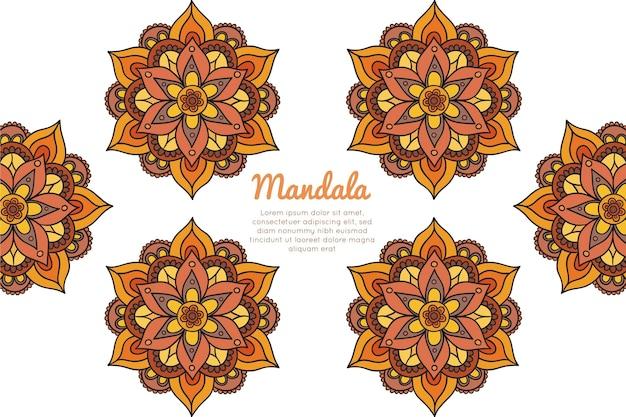 Handgetekende mandala-achtergrond