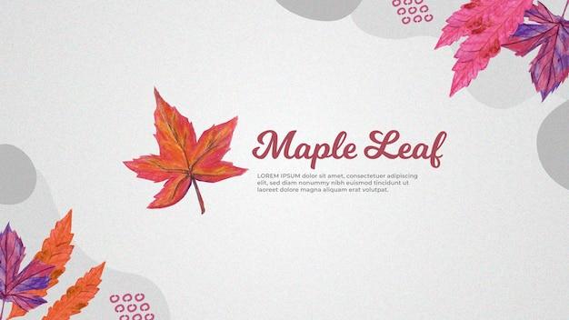 Handgetekende maple leaf achtergrond