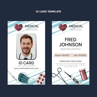 Handgetekende medische identiteitskaart