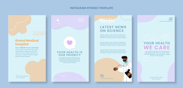 Handgetekende medische instagramverhalen
