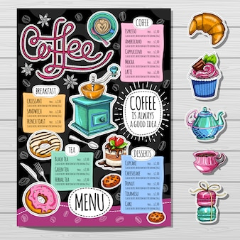 Handgetekende menu