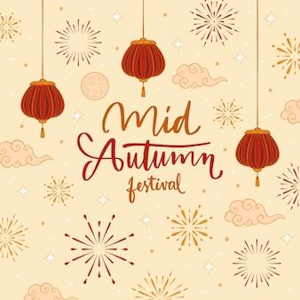 Handgetekende midherfstfestival
