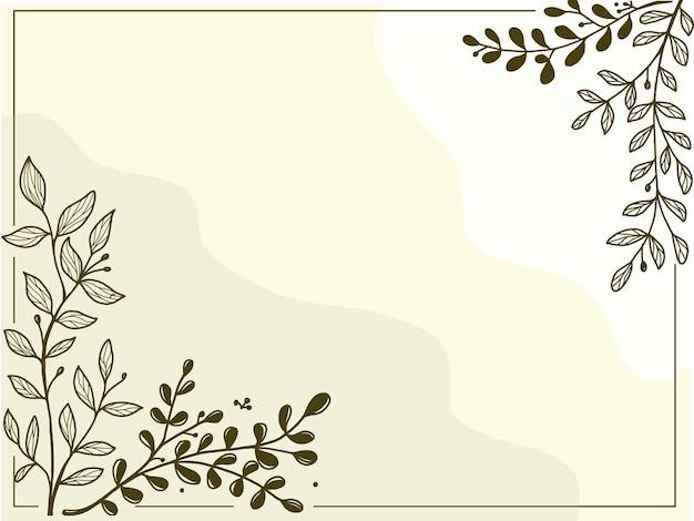 Handgetekende minimale bloemen achtergrond gratis vector