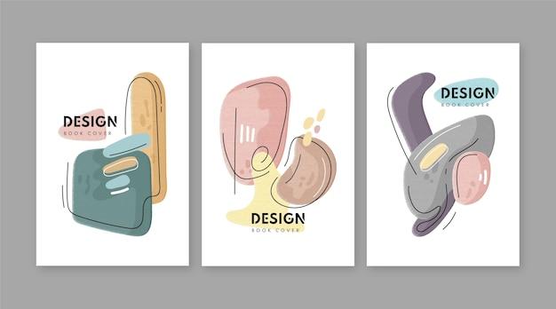 Handgetekende minimale handgetekende coverscollectie