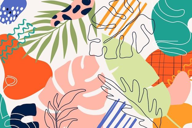 Handgetekende minimalistische stijlachtergrond