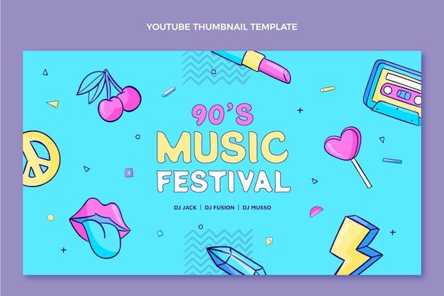 Handgetekende muziekfestival youtube thumbnail