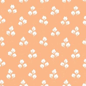 Handgetekende naadloze patroon met bloemen. kleurrijke bloemenillustratie voor papier en cadeaupapier. gestructureerd ontwerp met stoffenprint. creatieve stijlvolle achtergrond.