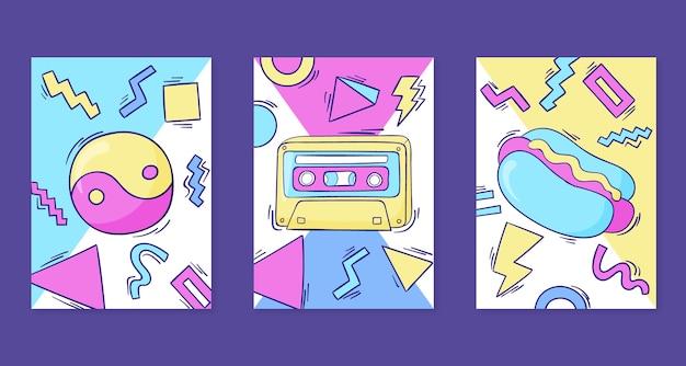 Handgetekende nostalgische coverscollectie uit de jaren 90