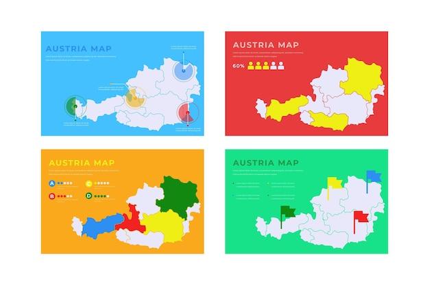 Handgetekende oostenrijk kaart infographic