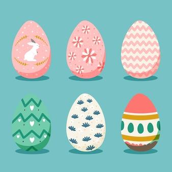 Handgetekende paasdag eieren