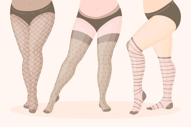 Handgetekende panty panty pack