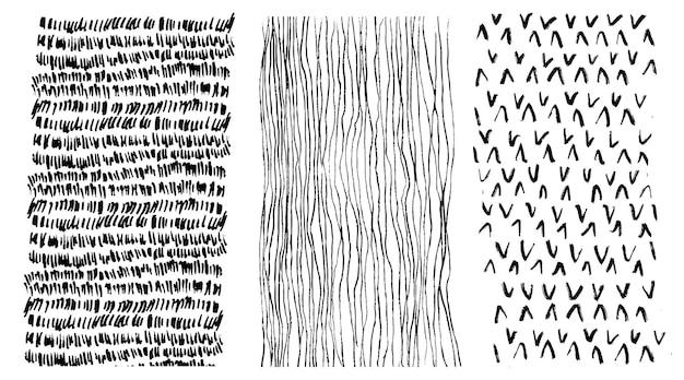 Handgetekende patronen set