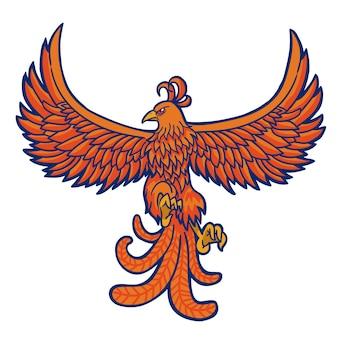 Handgetekende phoenix design