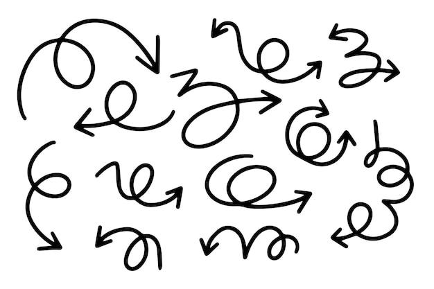 Handgetekende pijlverzameling