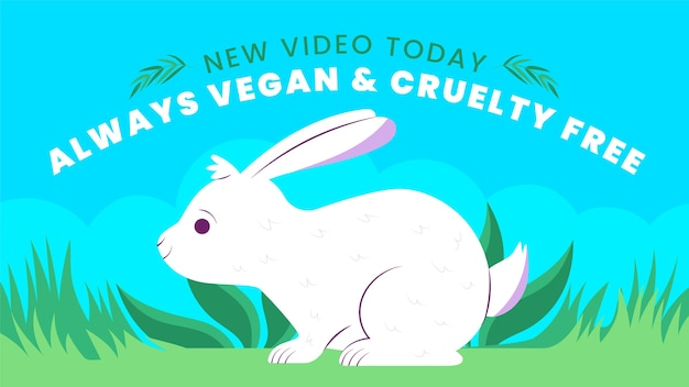 Handgetekende plat vegetarisch eten youtube thumbnail