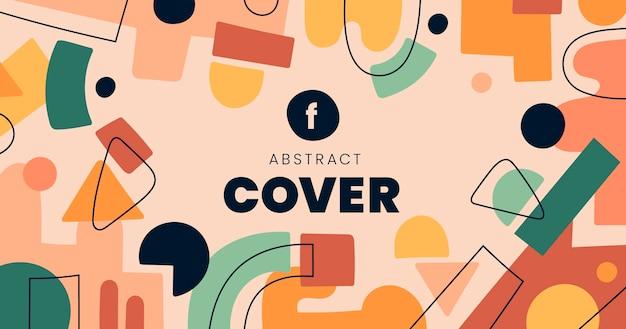 Handgetekende platte abstracte vormen facebook post