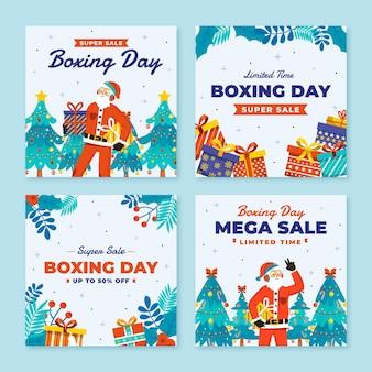 Handgetekende platte boxing day sale instagram posts collectie