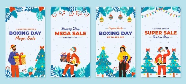 Handgetekende platte boxing day sale instagram stories collection