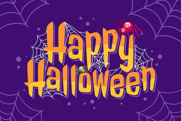 Handgetekende platte halloween-letters