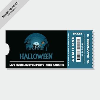 Handgetekende platte halloween-tickets