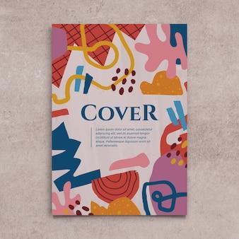 Handgetekende platte ontwerp abstracte vormen cover