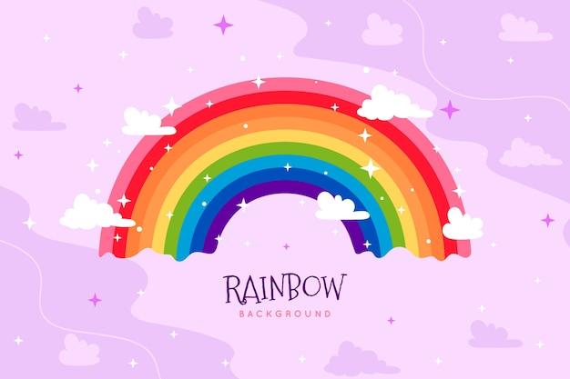 Handgetekende regenboog concept