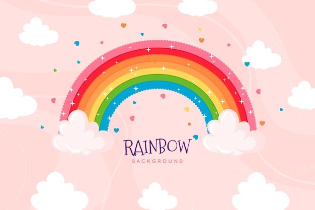 Handgetekende regenboog