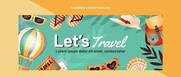Handgetekende reis facebook omslag