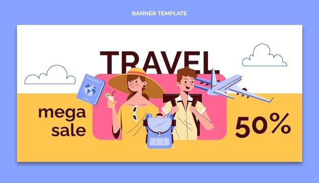 Handgetekende reis facebook-omslag