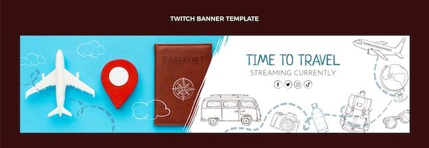 Handgetekende reis twitch banner