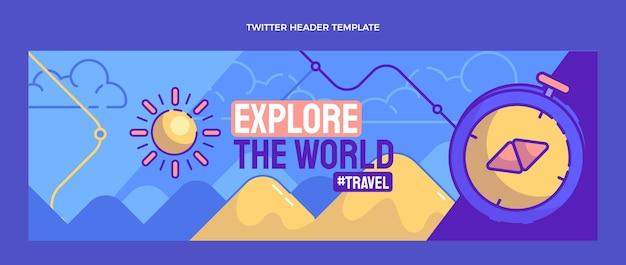 Handgetekende reis twitter header
