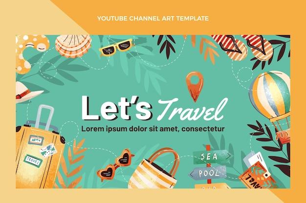 Handgetekende reis youtube-kanaal