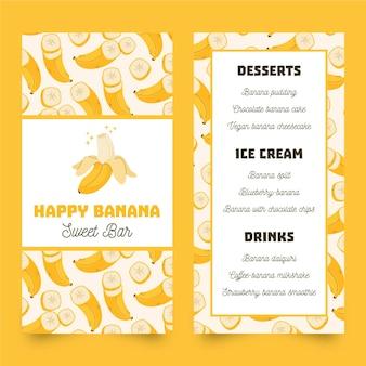 Handgetekende restaurant menusjabloon