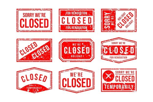 Handgetekende rode gesloten zegelzegelspakket