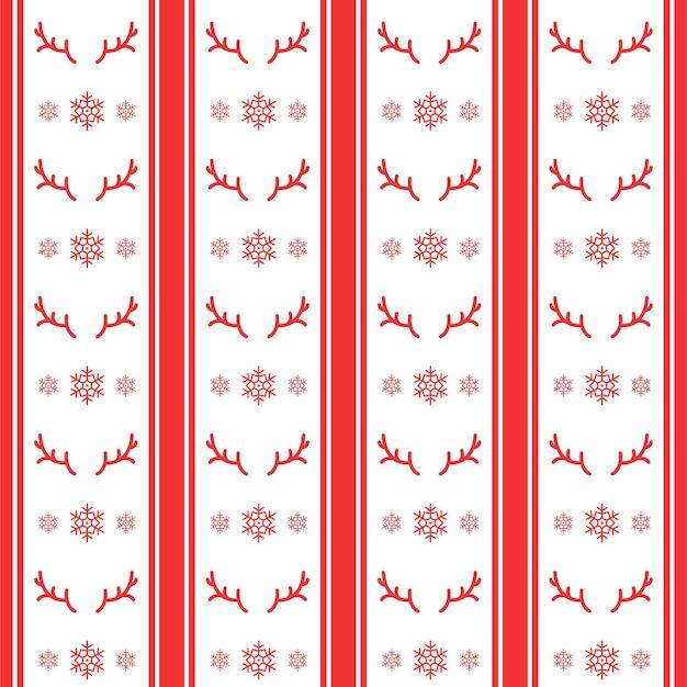 Handgetekende schets cartoon kerst patroon